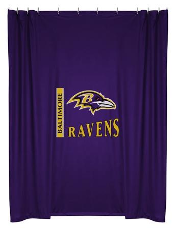 Baltimore Ravens Bathroom Shower Curtain $42.95 http://www.mysportsdecor.com/baltimore-ravens-shower-curtain.html #baltimoreravens #baltimoreravensbathroom #baltimoreravensshowercurtain