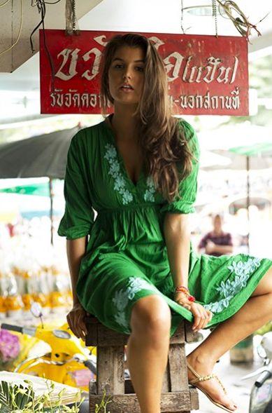 One Season Positano dress worn by Nina Proudman on Offspring Season 4 Ep 2