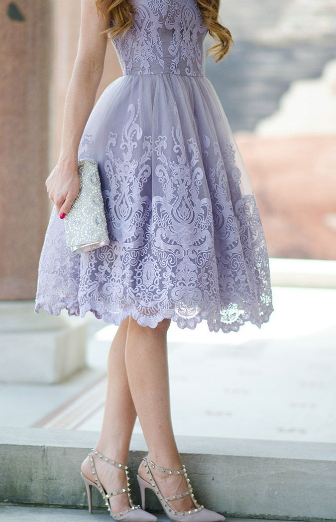 Perfect Purple Wedding Guest Dress With Louboutin Pumps Lavender
