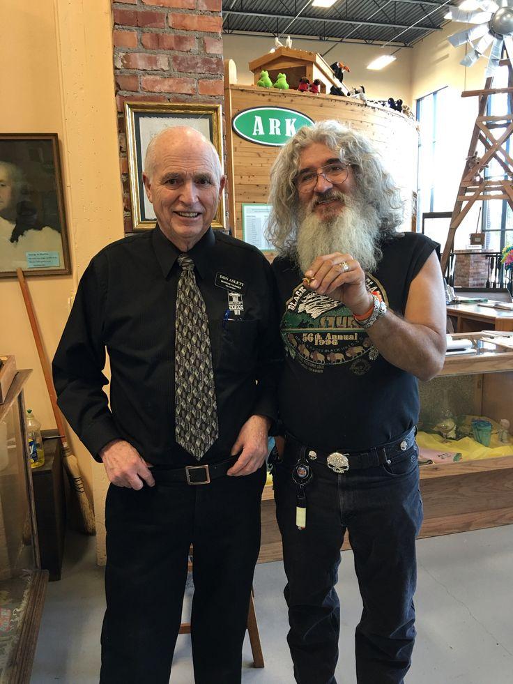 Met Don Aslett at clean museum he gave me his tie pin. Sweet!