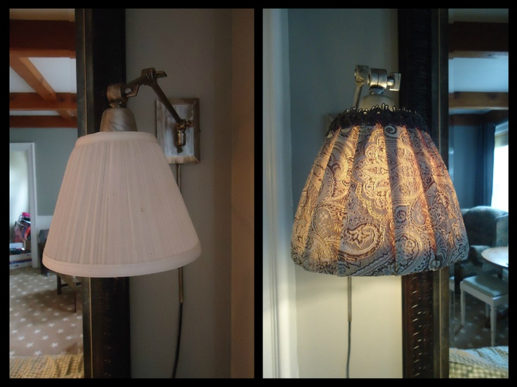Pleated lampshade redo diy pinterest for Redoing lamp shades