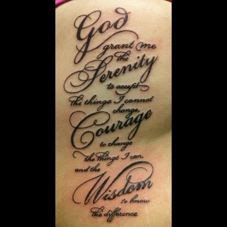 Serenity prayer... Love the font