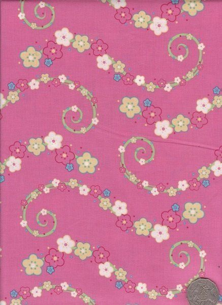 """Floral Pink  """"Where The Wind Blows"""" designed by Melanie Hurlston."""