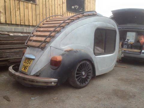 Interesting VW Bug styled Teardrop Compact Camper