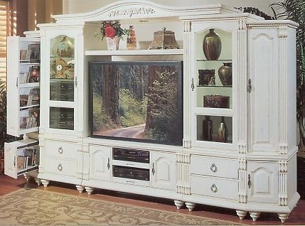 Antique White Entertainment Center Cottage For The Home