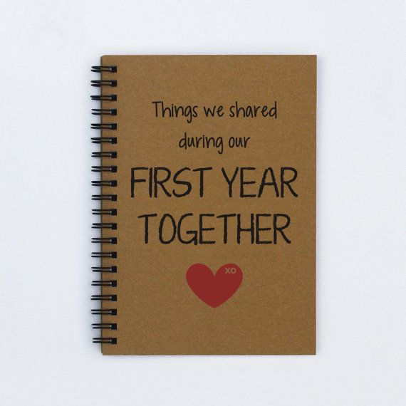 ideas for first year anniversary dating Design ideas and inspiration all paper gift romantic, unique anniversary gift date nights first year together / first anniversary scrapbook / our first.