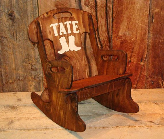 Puzzle Rocker-Rocking chair for kids Rustic by WorkHorseFurniture