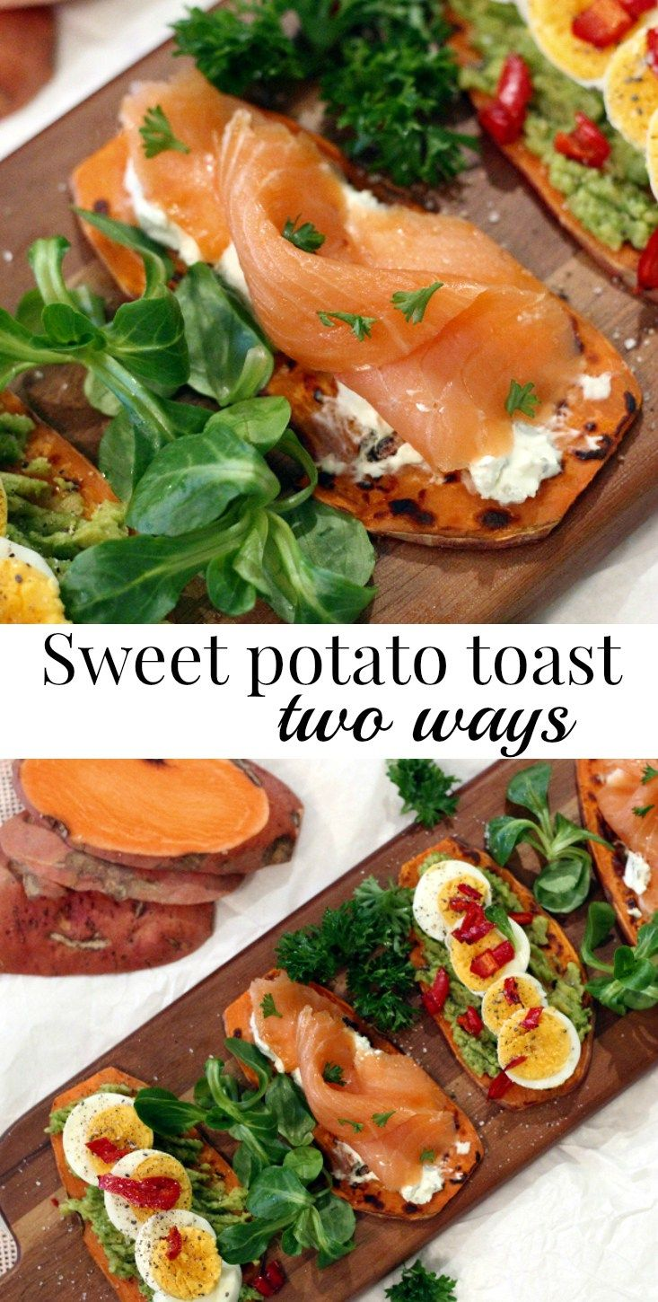 How about a new healthy, colorful lunch recipe to impress? | Sweet potato toast is healthy, delicious and done in minutes! Today I share two varieties.