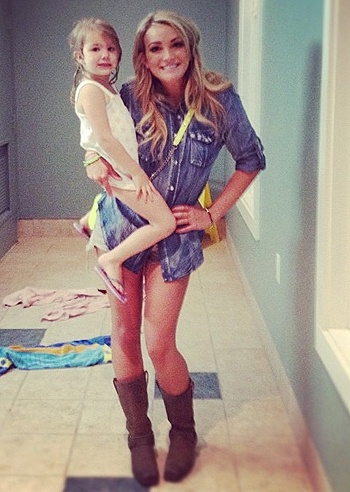 Jamie Lynn Spears  and her daughter Maddie...so weird. Little Zoe has a 3 year old