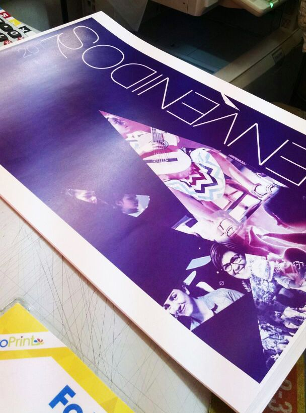 Poster Suzuki Music Chile - printing test - Diamonds - Bienvenidos 2017. D76.CX