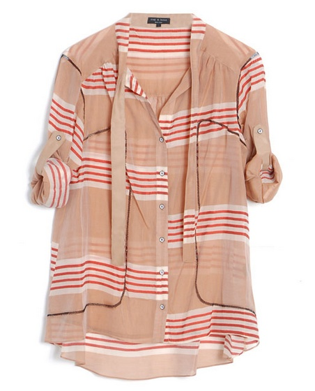 rag and bone: Blouses, Style, Stripes Shirts, Rag And Bones, Jane Buttons, White Jeans, Silk Shirts, Summer Tops, Red Pants