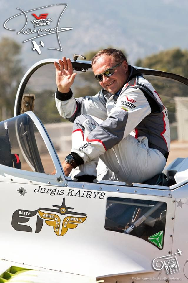 Jurgis Kairys at Athens Flying Week #JurgisKairys #VostokEurope #VichosWatches #aviation #pilot #aviator #AthensFlyingWeek