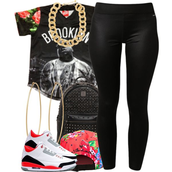 adidas activewear pants, MCM backpacks and 10 Bells necklaces. Browse and shop related looks.