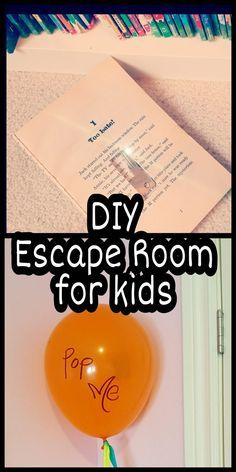 DIY escape room for kids! I tried this at home wit…