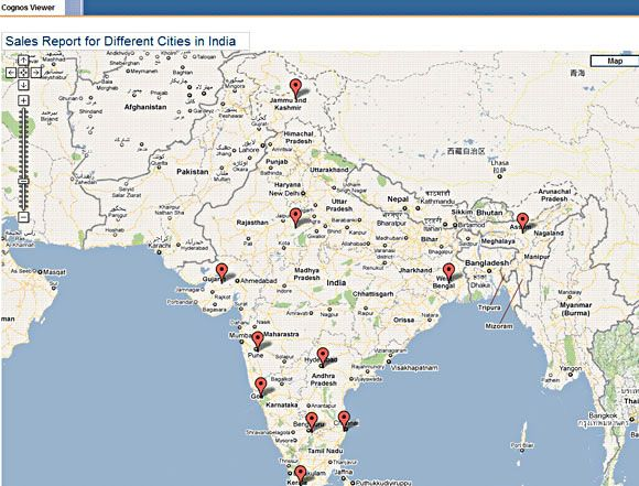 Integrate Cognos 8 with Google Maps