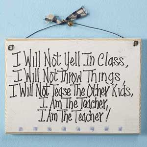 I am the teacher.