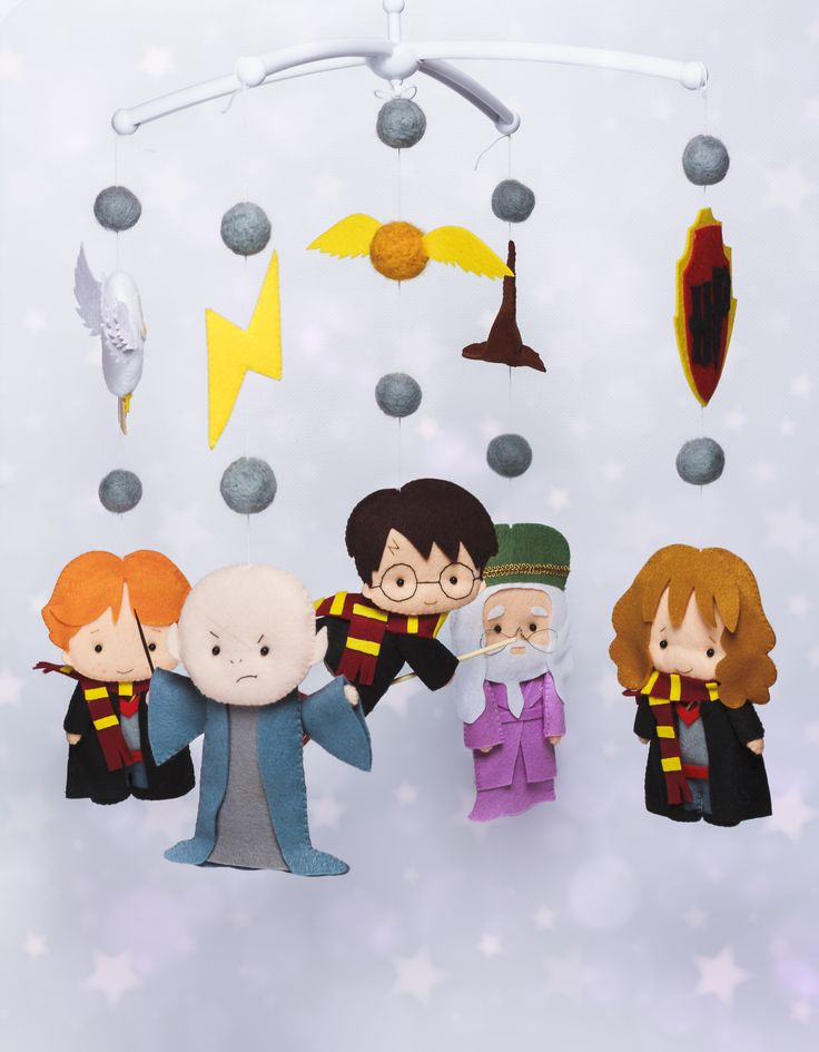 "Felt baby mobile with characters from book ""Harry Potter ..."