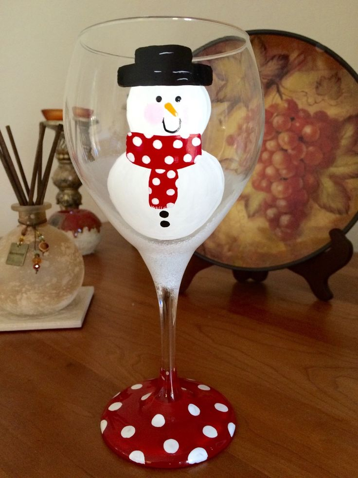 418 best images about wine glasses on pinterest for Holiday wine glass crafts