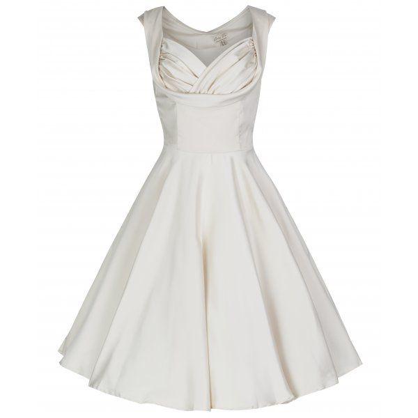 'Ophelia' Ivory Swing Dress