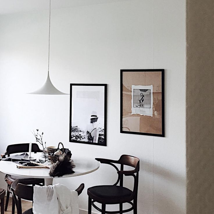 Ikea 'Docksta' tulipe table & Semi lamp @elsasrum