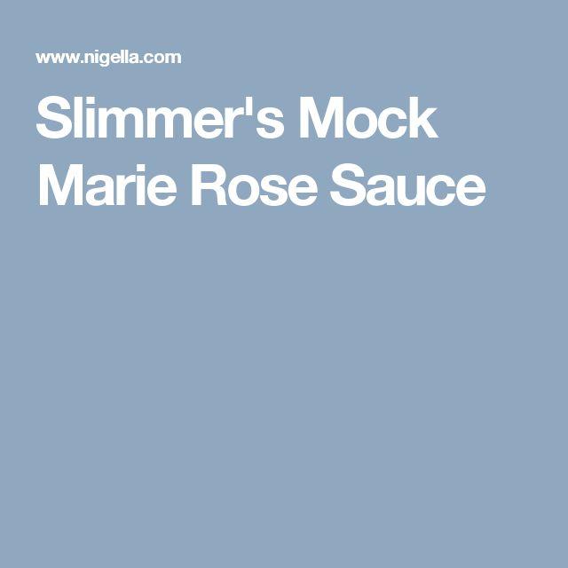 Slimmer's Mock Marie Rose Sauce