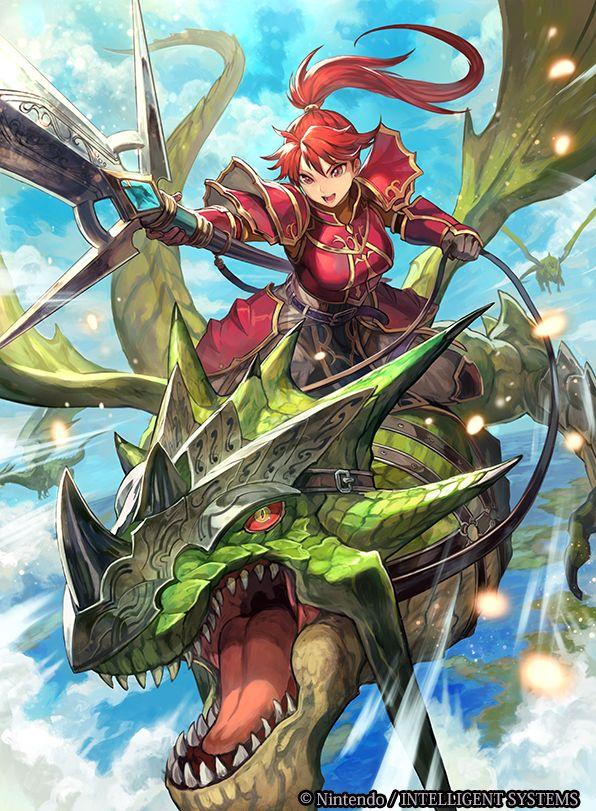 本日発売の 『ファイアーエムブレム0(サイファ)』第3弾ブースターパック「希望への雙剣」にて【 決意の赤竜騎 ジル 】