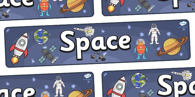 Twinkl Resources >> Space Display Banner  >> Thousands of printable primary teaching resources for EYFS, KS1, KS2 and beyond! KS1, display banner, display, banner, space, ship, space banner, rocket, alien, launch, foundation stage, topic, moon, stars, planet, planets, outer space,