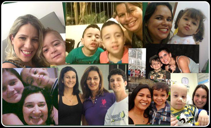 Mães que estão representando todas as mães de filhos que fizeram Transplante de Medula Óssea. Feliz Dia das Mães!!!
