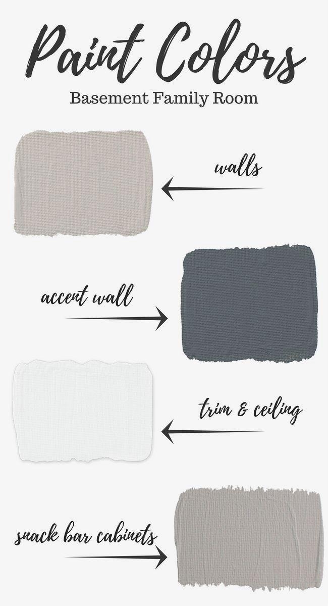 Basement Paint Colors Basement Colors Basement Painting Family Room Walls