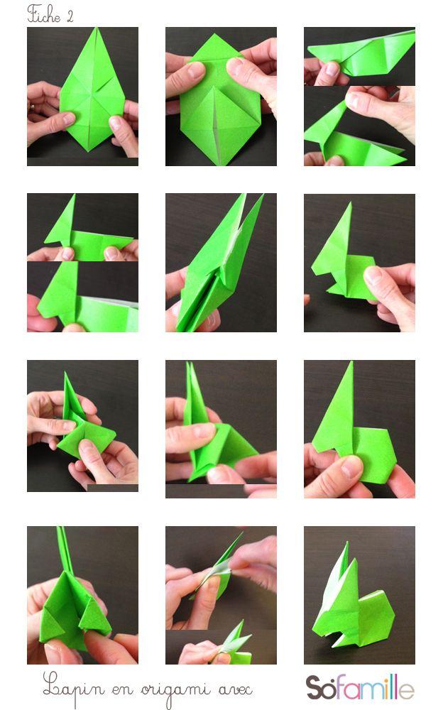 tuto origami paques
