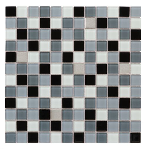 "Peel & Stick Glass Stainless Steel Tile Evolution is a ""Do it Yourself"" product that combines glass tiles and the latest peel & stick technology suitable for kitchen backsplash. One of the greatest advantages of this self-adhesive tile, it is the ability to lay it on the wall without using any kind of cement or setting material, which is a huge time saver."