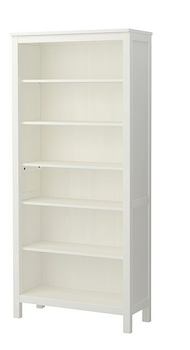HEMNES bookcase, white $ 185 (IKEA)