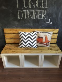 IKEA HACK: Use the KALLAX cubes to make a dining bench