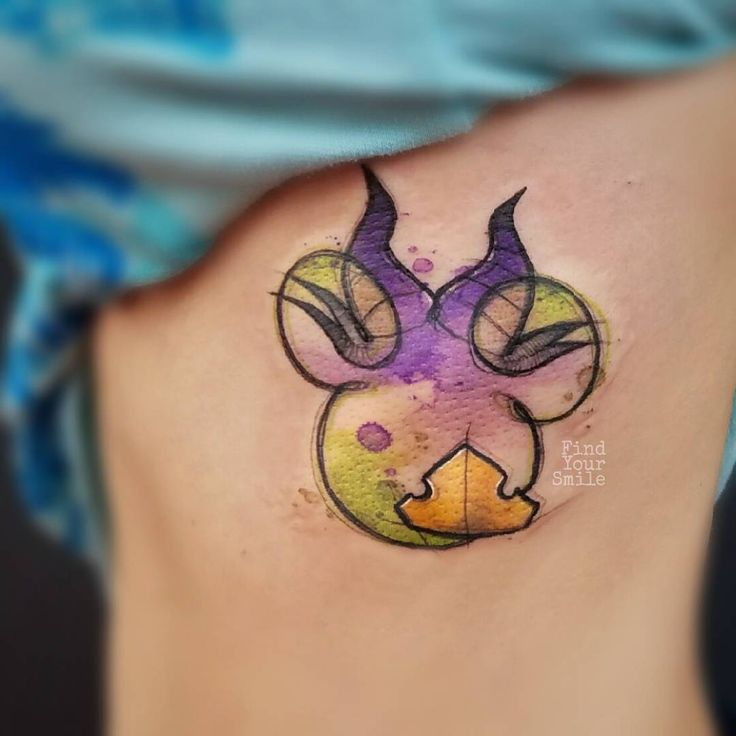Abstract Disney tattoo