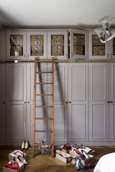 The ceiling's the limit! Make the most of the full height of your room by building in cupboards all the way up. Image: Livingetc