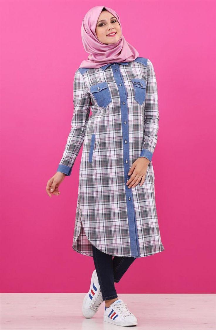 """Nihan Ekose Detaylı Tunik-Gri V2156-05 Sitemize """"Nihan Ekose Detaylı Tunik-Gri V2156-05"""" tesettür elbise eklenmiştir. https://www.yenitesetturmodelleri.com/yeni-tesettur-modelleri-nihan-ekose-detayli-tunik-gri-v2156-05/"""