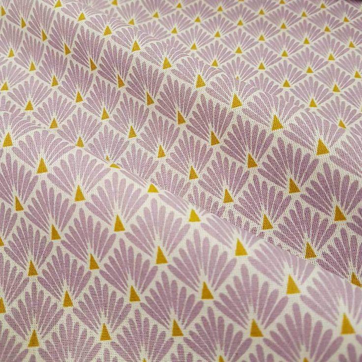 Weiteres - Stoff Baumwolle Japan Fächer Raute flieder messing - ein Designerstück von werthers-stoffe bei DaWanda