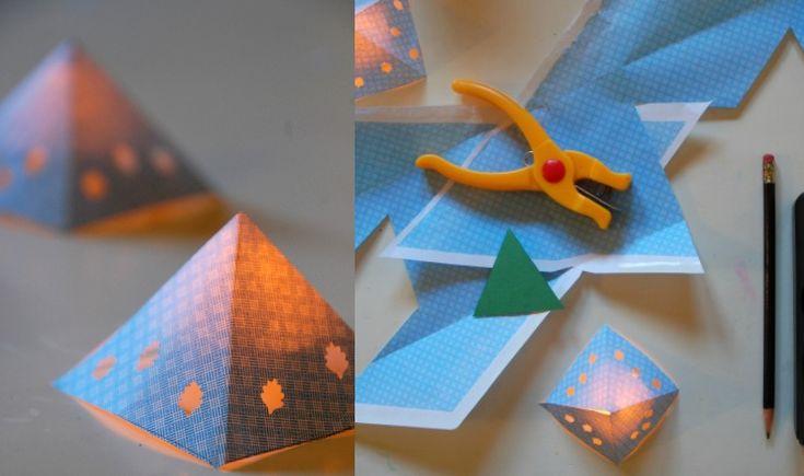 die besten 25 basteln pyramide papier ideen auf pinterest geschenkverpackung pyramide basteln. Black Bedroom Furniture Sets. Home Design Ideas