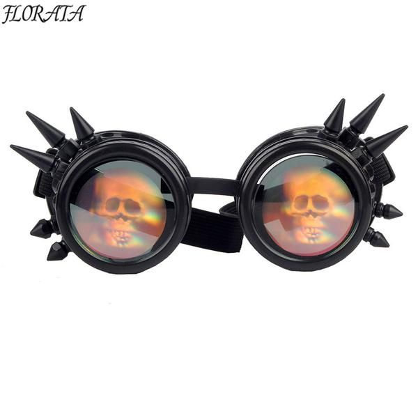 Retro Cool Rivet Gothic Punk Goggles Cyber Victorian Weld Cyber Cosplay Costume
