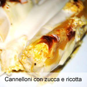 Cannelloni con zucca e ricotta