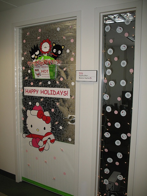 office holiday decor. office door holiday decoration contest by mjhmerc via flickr decor s