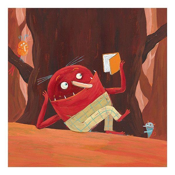 Monster * Book * Rogé * Acrylic * Illustration * Art * Children's Books * Reading
