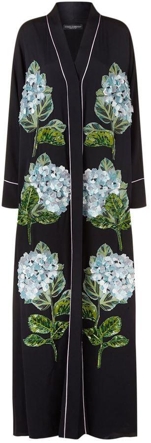 Dolce & Gabbana Hydrangea Embellished Abaya