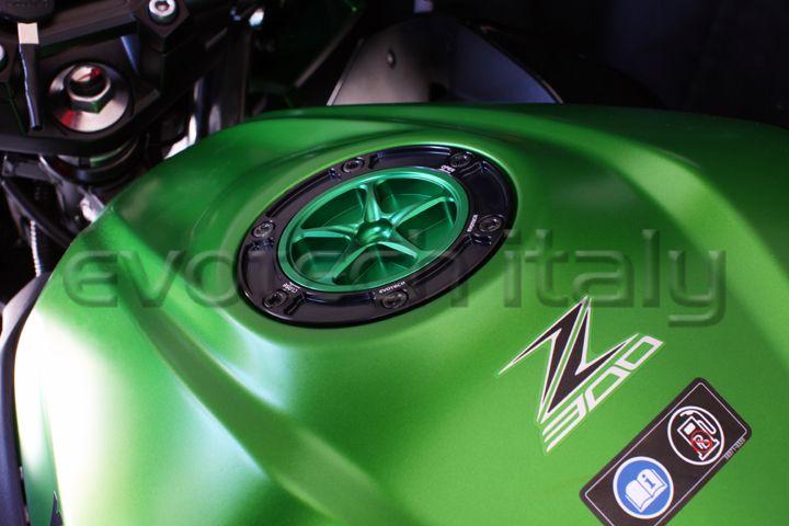 TAPPO BENZINA  Green Style! Kawasaki Z300 Z250 '15