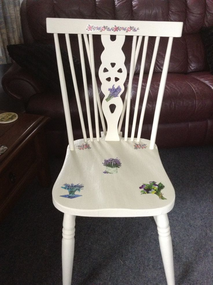 An old chair I repainted and dressed up