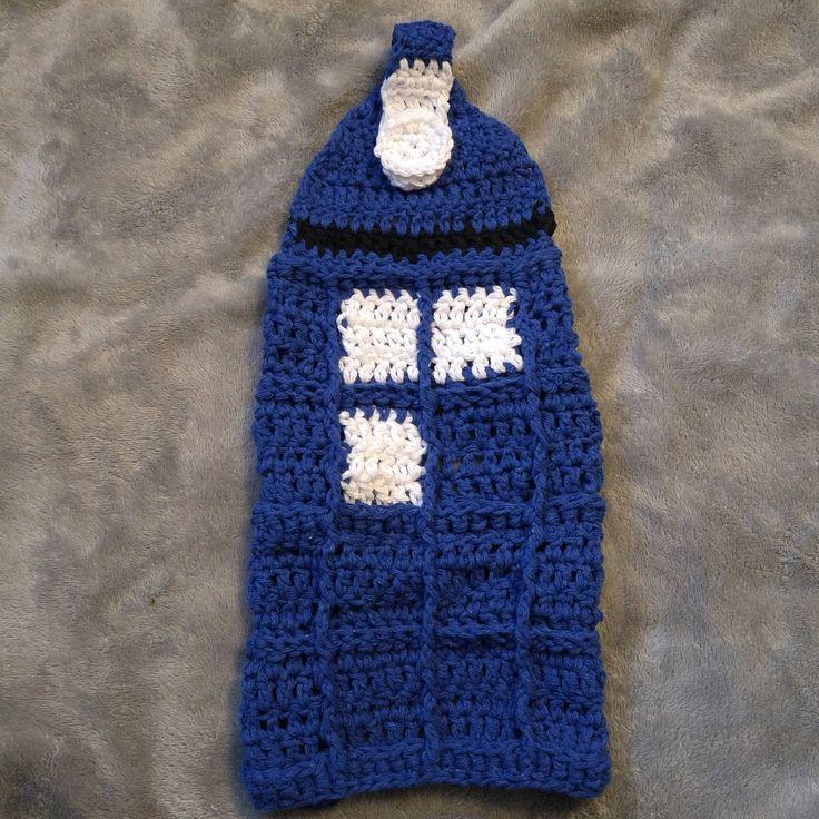 Police Box hanging tea towel, doctor who, Tardis by MarjielousCreations on Etsy