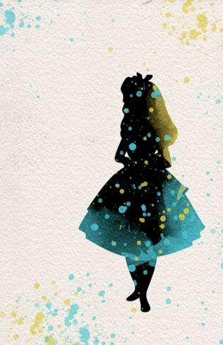 Alice in Wonderland disney watercolor illustrations art children's room wall art…