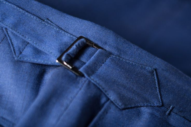 """SIDE ADJUSTERS: """"Trouser waistband attachment, tacks, closure all done by hand."""" --Tailor Made London, Traditional Craft"""