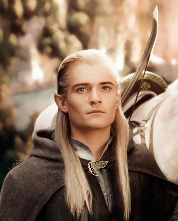 """Orlando Bloom as Legolas in """"The Lord of Rings"""", 2001 ..."""