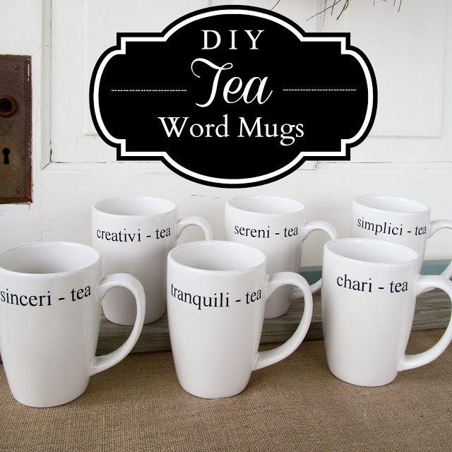 DIY Tea Mugs - An Inexpensive Gift For Tea Lovers!